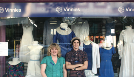 Shelly and Kyle outside VInnies Retro
