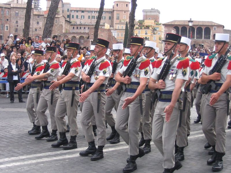 French Foreign Legion at an army parade, Rome, 2007. Source: Wikimedia Commons by Utente: Jollyroger