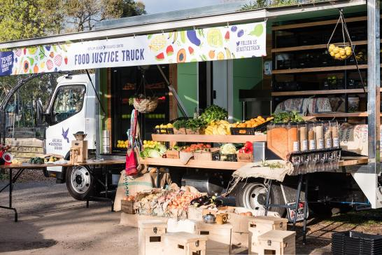 ASRC'S Food Justice Truck where refugees can get groceries at a 75% discount. Source: ASRC