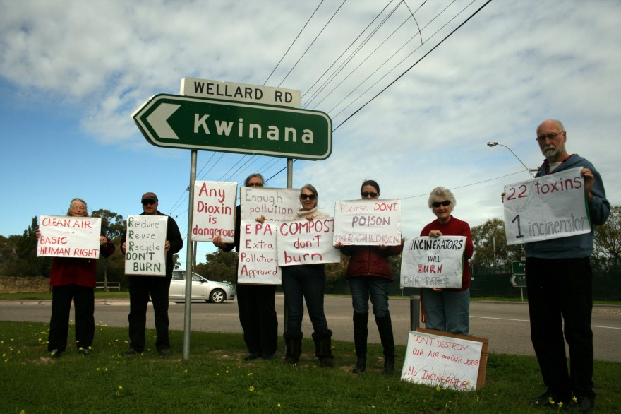 Protesters opposed to Waste to Energy plants. Photo by Olivia Gardner
